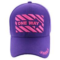 VM124 Jesus One Way Velcro Cap (Solid Purple)