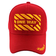 VM124 Jesus One Way Velcro Cap (Solid Red)