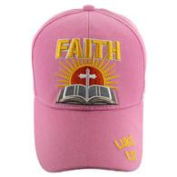 VM126 Jesus One Way Velcro Cap (Solid Light Pink)