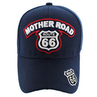 VM929 Route 66 Velcro Cap (Navy & Navy)