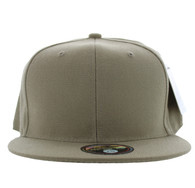 SP022 One Tone Size Fitted (Solid Khaki) - Size 6 7/8