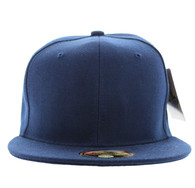 SP022 One Tone Size Fitted (Solid Navy) - Size 7 5/8