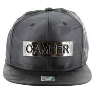 SM013 Camper Snapback (Solid Black Military Camo)