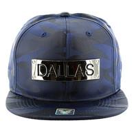 SM013 Dallas Snapback (Solid Navy Military Camo)