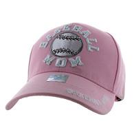 VM452 Baseball Mom Velcro Cap (Solid Light Pink)