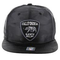 SM1003 Cali Bear Snapback (Solid Black Military Camo)