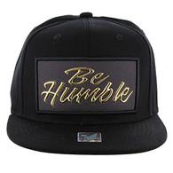 SM1001 Be Humble Snapback (Solid Black) - Gold