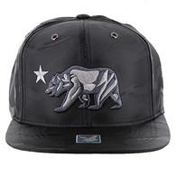 SM156 Cali Bear Snapback (Solid Black Military Camo)