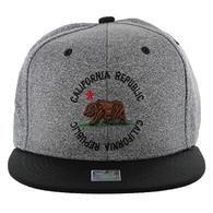 SM135 Cali Bear Snapback (Heather Grey & Black)