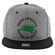 SM134 Hecho En Mexico Eagle Snapback (Heather Grey & Black)