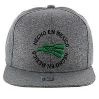 SM134 Hecho En Mexico Eagle Snapback (Heather Grey & Heather Grey)