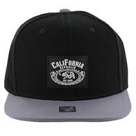 SM012 Cali Bear Snapback Hat Cap (Black & Grey)