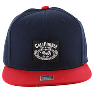 SM012 Cali Bear Snapback Hat Cap (Navy & Red)