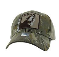VM403 Lone Wolf Velcro Cap (Hunting Camo & Khaki)