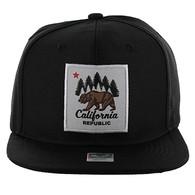 SM002 Cali Bear Snapback Hat Cap (Black & Black)