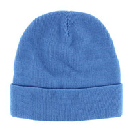 "WB080 Plain 12"" Long Beanie (Solid Sky Blue)"
