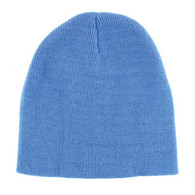 "WB090 Plain 8"" Short Beanie (Solid Sky Blue)"
