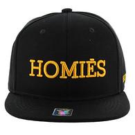 SM164 Homies Snapback (Black & Black)