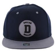 SM163 Dallas Snapback (Navy & Grey)
