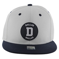 SM163 Dallas Snapback (White & Navy)
