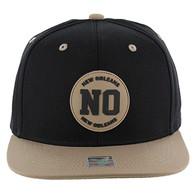 SM163 New Orleans Snapback (Black & Khaki)