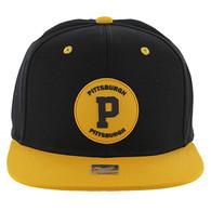 SM163 Pittsburgh Snapback (Black & Gold)