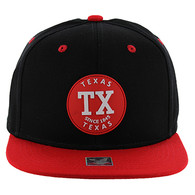 SM163 Texas Snapback (Black & Red)
