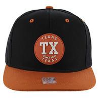 SM163 Texas Snapback (Black & Texas Orange)
