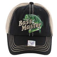 VM143 Bass Master Mesh Cap (Black & Khaki)