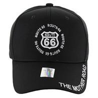 VM139 Route 66 Velcro Cap (Solid Black)