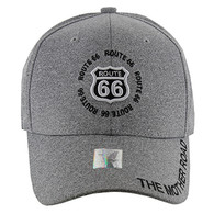 VM139 Route 66 Velcro Cap (Solid Light Grey)