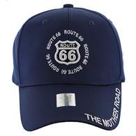 VM139 Route 66 Velcro Cap (Solid Navy)