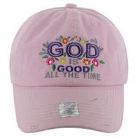 BM131 God is Good Buckle Cap (Solid Light Pink)