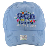BM131 God is Good Buckle Cap (Solid Sky Blue)