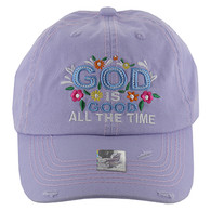 BM131 God is Good Buckle Cap (Solid Purple)