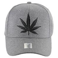 VM136 Marijuana Baseball Cap (Heather Grey & Heather Grey)