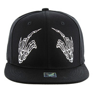 SM052 Finger Snapback (Solid Black)
