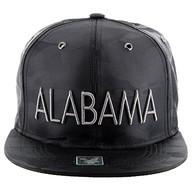 SM160 Alabama Snapback Cap (Solid Black Military Camo)