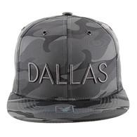 SM160 Dallas Snapback (Solid Grey Military Camo)