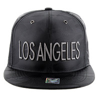 SM160  Los Angeles Snapback (Solid Black Military Camo)