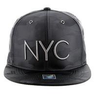 SM160 NYC Snapback (Solid Black Military Camo)