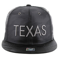 SM160 Texas Snapback (Solid Black Military Camo)