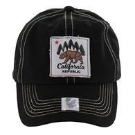 BM002 Cali Bear Buckle Cap (Solid Black)
