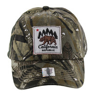 BM002 Cali Bear Buckle Cap (Solid Hunting Camo)