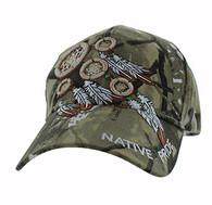 VM252 Native Pride Dream Catchers Velcro Cap (Solid Hunting Camo)