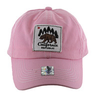 BM002 Cali Bear Buckle Cap (Solid Light Pink)