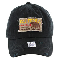 BM148 Cali Bear Buckle Cap (Solid Black)