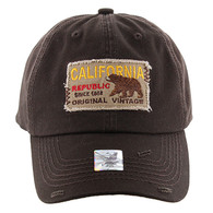 BM148 Cali Bear Buckle Cap (Solid Brown)