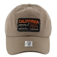 BM148 Cali Bear Buckle Cap (Solid Khaki)
