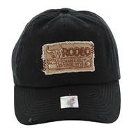 BM151 Rodeo Vintage Buckle Cap (Solid Black)
